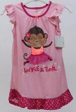 Jumping Beans Girls Pink Monkey Tutu Nightgown & Matching Doll Nightgown Size 2T
