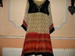 Indian/Pakistani - Long Kurta Size M- Velvet/Georgette/ with lining