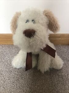 """12"""" Large Beige Brown Puppy Dog The Factory Shop Soft Toy Shaggy Dog"""