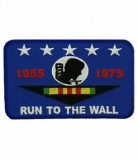 "RUN TO THE WALL VIETNAM PATCH 4"" X 2.25"", MILITARY PATCHES, BIKER PATCHES"