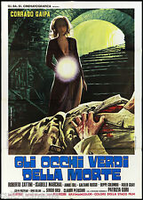 GLI OCCHI VERDI DELLA MORTE MANIFESTO FILM GIALLO GOTICO 1972 MOVIE POSTER 2F