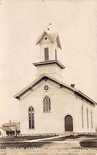 Hartford Michigan~Methodist Church w/Round Window~House Behind~RPPC c1913