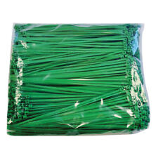"Plastic Ties 8.9"" Green 40# Tensile 1000 Per Bag"