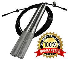 Regno Unito WARRIOR 2000 regolabili in metallo velocità Skipping Rope CROSS BOXE MMA esercizio