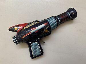 Vintage 1960s SPACE GUN~Tin Toy by DAIYA Japan~Sci Fi Rocket Graphic
