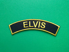 HEAVY METAL PUNK ROCK MUSIC SEW ON / IRON ON PATCH:- ELVIS (a) SHOULDER STRIPE