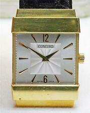 Vintage 18k yellow gold CONCORD 50-C1-1451 Water resistant men's Top Hat Watch