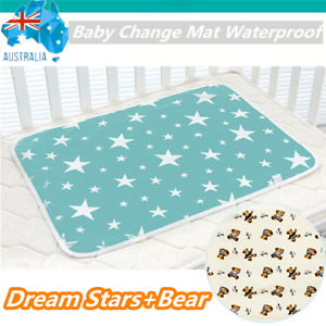 Baby Urine Pad Reusable Change Mat Infant Waterproof Bed Nappy Cover 50x70cm AU
