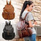 Women's Vintage Leather Backpack School Backpack Shoulder Travel Rucksack Bag