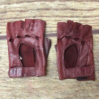 La Crasia New York Red Vintage Driving Gloves Used Knuckle Holes