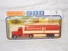 MIP Matchbox TP-23 Long Haul Tractor & Red/White Firestone Articulated Trailer