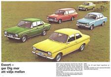 Old Print.  Ford Escort family auto ad