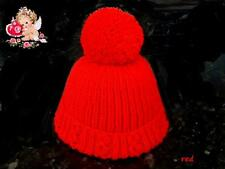 Hand Knitted Newborn Baby - PomPom - Bobble Hats - in Soft Baby Wool