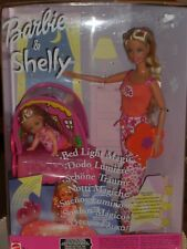 2003 RARE MATTEL SAMPLE BARBIE & SHELLY/ KELLY POSEABLE DOLL BED LIGHT MAGIC SET