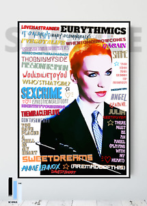 The Eurythmics / Annie Lennox 80's Pop Art  Memorabilia/Keepsake/Gift FREEPOST