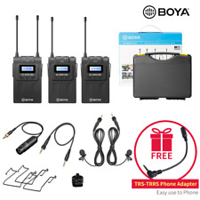 BOYA BY-WM8 PRO K2 UHF Dual Channel Wireless Microphone for DSLR  Canon Nikon