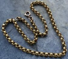 tone fancy chain necklace -R65 antique Georgian Victorian pinchbeck gold