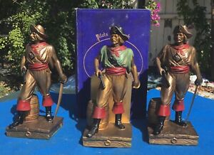 Vintage Kronheim & Oldenbush K&O pirate bookends, (also expandable), Circa 1932
