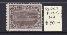 New listing Tasmania: 3d Brown Pictorial Sg 253 Wmk Ca Perf 12.5 Mh.