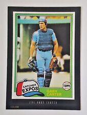 2015 TOPPS ANTHOLOGY GARY CARTER 5X7 JUMBO ART CARD #/499 1981 EXPOS