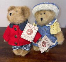 """Boyd's Bear Edmund Bailey Boyfriend 9"""" And Bailey Ann Plush Toys Dolls Vintage"""