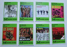 Set of 8 BEATLES RARITIES trade cards - GREEN 'Rare Global Releases' series