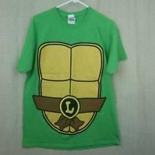 TMNT T Shirt Costume Leonardo Green 100% Cotton Shell Front Back Men's Large