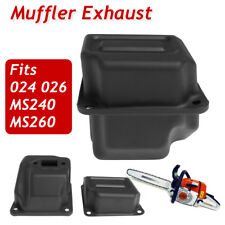 Black Muffler Exhaust for Stihl Chainsaw 024 026 MS240 MS260 1128-140-0604