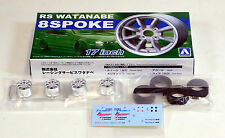 "Aoshima 1/24 RS Watanabe 17"" Wheel & Tire Set For Plastic Models 2433 (04)"