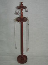 MAHOGANY WOOD NECKLACE  EARRING STAND HOLDER JEWELLERY DISPLAY TREE HANGER