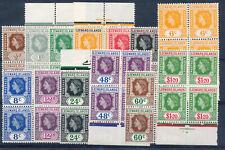 LEEWARD ISLANDS 1954 DEFINITIVES SG126/138 BLOCKS OF 4 MNH
