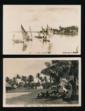 FIJI 1920-30 AUSTRAL KODAK REAL PHOTOS 2 CARDS NAVITI + BAU ISLANDS...MEYER