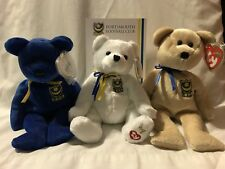 TY Beanie Baby Babies-Pompey,Premier and P.F.C.-PFC Exclusive Bears