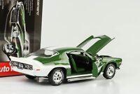 1970 Chevrolet Chevy Camaro Baldwin Motion Z28 grün metallic 1:18 Auto world Ert