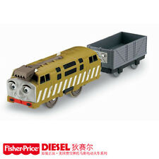 FISHER TRACKMASTER THOMAS BATTERY MOTORIZED TRAIN- DIESEL 10 + TROUBLESOME TRUCK
