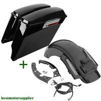 "5"" Stretched Saddle bags CVO Rear Fender For Harley Road Glide FLHR Ultra 09-13"
