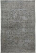 Antique Distressed Overdyed Tebriz Hand-Knotted Area Rug Oriental Carpet 9'x12'