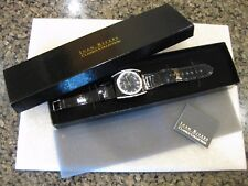 JOAN RIVERS Watch /Crystal Accented Black Face & Patent Band NIB / HARD TO FIND