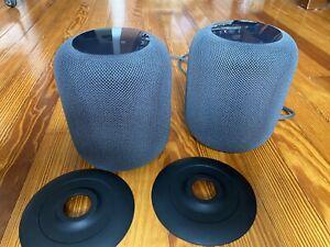 2 (TWO) Apple HomePod Smart Speakers - Space Gray