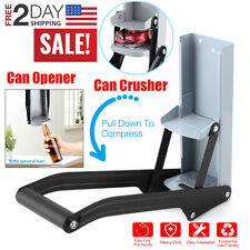 Can Crusher Wall Mount Aluminum 16oz 12oz 8oz Recycling with Opener Heavy Duty
