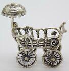 Vintage Solid Silver Italian Made Baby Pram Figurine Dollhouse Hallmarked