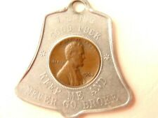 Betsy Ross House souvenir Liberty Bell shaped good luck 1964 penny fob