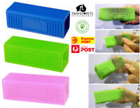 Pet Dog Cat Rectangle Silicone Brush Hair Remover Fur Cleaning Pet Tool Unique