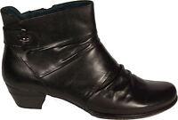 TAMARIS Schuhe Stiefeletten Ankle Boots echt Leder Schwarz Reißverschluß NEU