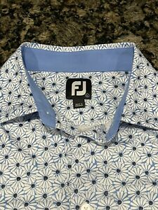 Large Blue Footjoy Golf Shirt (Moisture-Wicking) never worn*** flower design