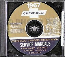 1967 Chevy CD Shop Manual Camaro Malibu Chevelle El Camino Corvette Nova Repair