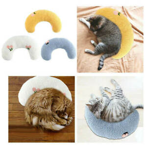 Small Pet Pillow Calming Aid Plush Sleep Upper Spine Training Toy for Cat