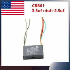 5 Wires Ac 250v 300v 50hz60hz Capacitor For Ceiling Fan Cbb61 35uf4uf25uf