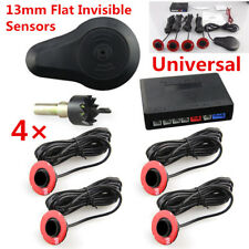 Car Parking 4 Black 13mm Hidden Sensors Reverse Backup Radar Sound Buzzer Alarm