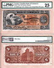 1912 $5 Canadian Bank of Commerce (CIBC) 75-14-14   PMG VF25